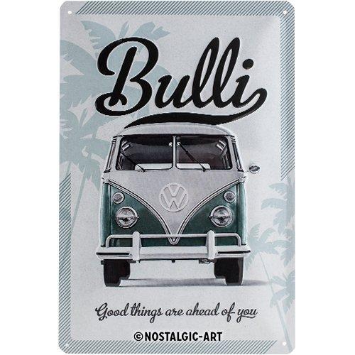 Nostalgic-Art 22213 Volkswagen - VW Bulli - Good things are ahead of you, Blechschild 20x30 cm -