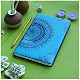 Doodle Ethnic Motif Hard Bound Undated A5 Diary Notebook (5.5 X 8.5 Inches, 80 GSM, 200 Ruled Perforated Pages) Diary for Writing, Gift for Friend, Perosnal Diary