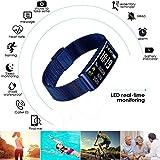 Wasserdicht Fitness Tracker Aktivität Fitness Uhr Herzfrequenz Monitor Schrittzähler Schlaf Monitor Blut Druck Messen Smart Armband Schritte Tracking, Kalorien Zähler, Schwimmen, Kamera Fernbedienung