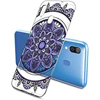 Suhctup Funda Compatible con Samsung Galaxy S10E,Carcasa Protectora de Silicona Transparente TPU Bumper con Floral Diseño,Ultra Fina Anti-Choques y Anti-Arañazos Resistente Case,Miticolor