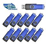 4GB USB-Stick 2.0 Flash Laufwerke Speicherstick, 10 stück Blau