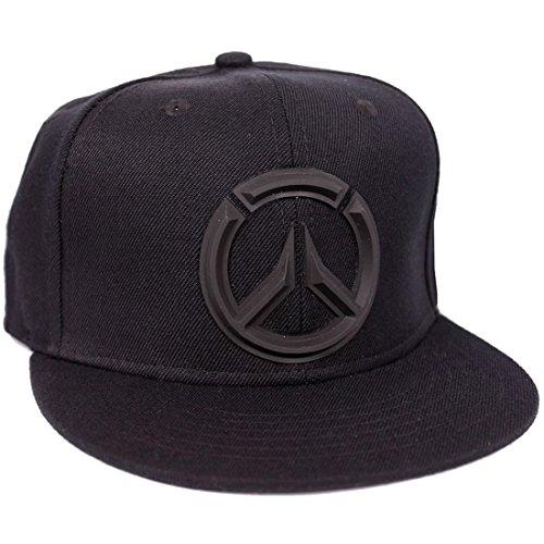 Overwatch Snapback Cap - 3D Black Logo