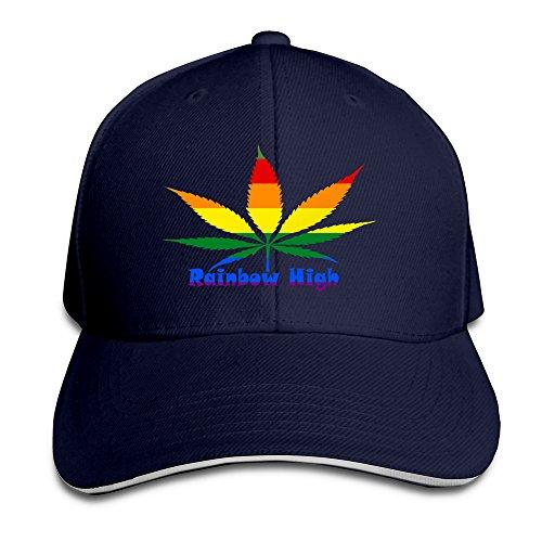 YSC-Dier Rainbow High Gay Lesbian Cool Flat Bill Adult Unisex Cap Navy