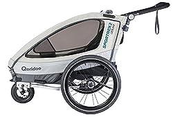 Qeridoo Sportrex 2 Deluxe Kinderanhänger 2018, Farbe:weiß