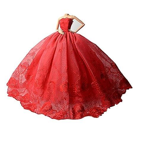 Youvinson Herrliche handgemachte Kleidungen gemacht für Barbie-Puppen (Bunt)