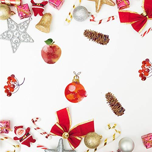 Wc-asdcc Funlife DIY Frieden Obst Glocke Weihnachten Dekoration Aufkleber Party Dekoration Kinder Schlafzimmer Wasserdichte Wandaufkleber