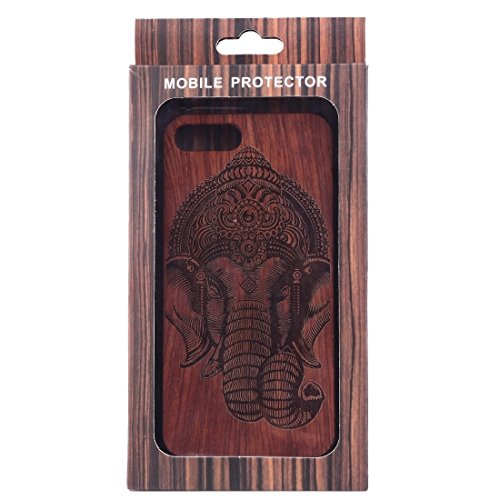 iPhone Case Cover Pour iPhone 7 Plus Sculpture Artistique Rosewood + PC Bordure Étui de protection arrière ( SKU : Ip7p1451x ) Ip7p1451q