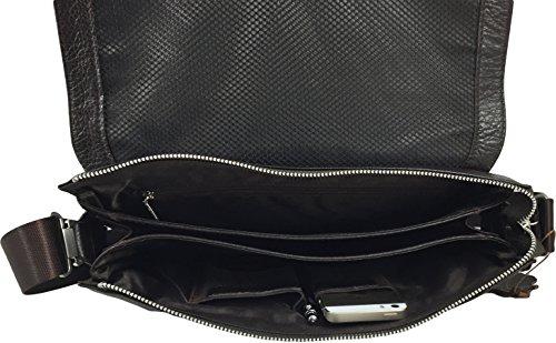 Zavelio Ventiquattrore / Messenger Bag / Messenger Bag In Vera Pelle Marrone