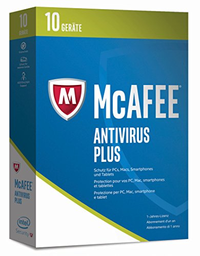 McAfee AntiVirus Plus 2017 | 10 Geräte | 1 Jahr | PC/Mac/Smartphone/Tablet | Download (Mcafee Antivirus-software)
