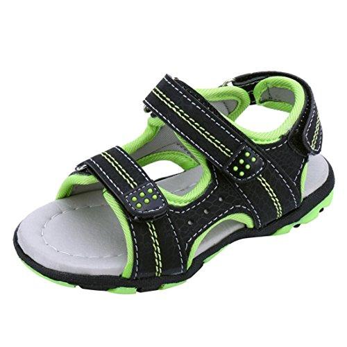 ELECTRI Été Enfants Enfants Chaussures Poussette de Suture Tête de Anti-Dérapant pour Les Garçons et Les Filles Sandales et Pantoufles Garçons Filles Plage Courir Sport Sneakers (24 EU, Sexy Vert)