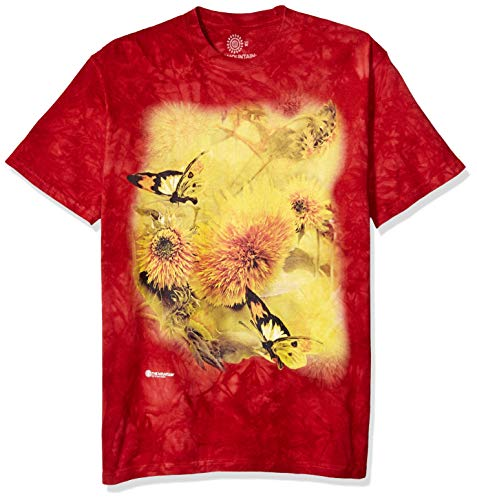The Mountain Herren Sunflower & Butterflies T-Shirt, rot, Groß - Butterfly Großen T-shirt