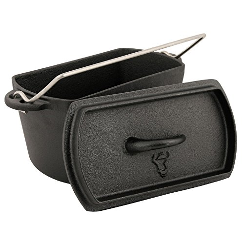 BBQ-TORO Backtopf, Dutch Oven Topf, Kochtopf aus Gusseisen, ohne Füße, Gusstopf, Bräter, Baking Pot