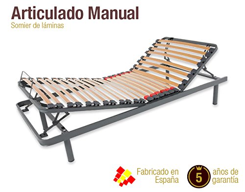 Naturconfort Somier Articulado Manual. DISPONIBLE EN TODAS LAS MEDIDAS (135 x 190 cm)