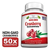 NON OGM Concentrato di Cranberry-Integratore Concentrato Mirtillo Rosso. Pari A 12600 Mg Di Mirtilli Freschi!