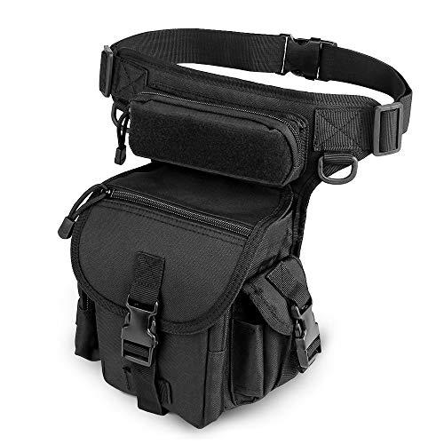 ELEPOWSTAR Beintasche Motorrad, Tactical Hüfttasche Beintasche für Außenbereich, Gürteltasche für Wandern Reisen Radfahren Bergsteigen Sports