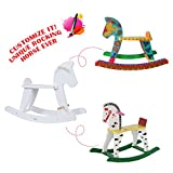 Labebe Wooden Vintage Retro Classic Rocking Horse for Toddler Girls & Boys 12 Months to 3 Years Old, ASTM F963/EN-71 CE Toys Safety Standards Certified, Customize Toys, Creative Birthday Gift -White - Labebe - amazon.co.uk