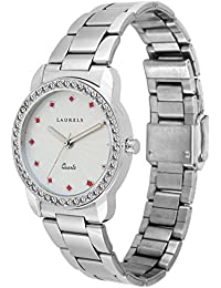 Laurels White Color Analog Women's Watch With Metal Chain: LWW-Cs-100707