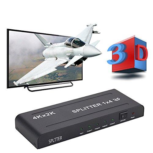 Splitter HDMI 4K 1x4, Witasm Ripartitore HDMI 1