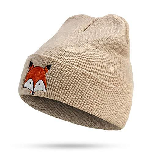 dies Glänzend Gestrickte Hut Ski Snowboard Hüte Winter Warm Und Komfortabel Häkeln Beanie Hat,Beige ()