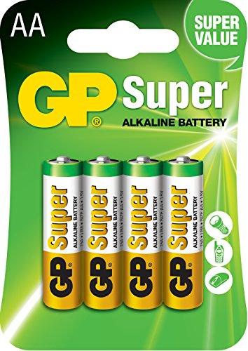 GP Blister de 4 Alcalines Super AA 1,5 V