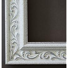 Espejo de pared Espejo Baño piso Espejo perchero Espejo–más de 200tamaños–Verona blanco plata 4,4, Medida exterior, Weiß, 50 x 50