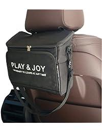 NOVAGO Sac isotherme sac déjeuner multifonctions transportable pour appui-tête de voiture (Noir)