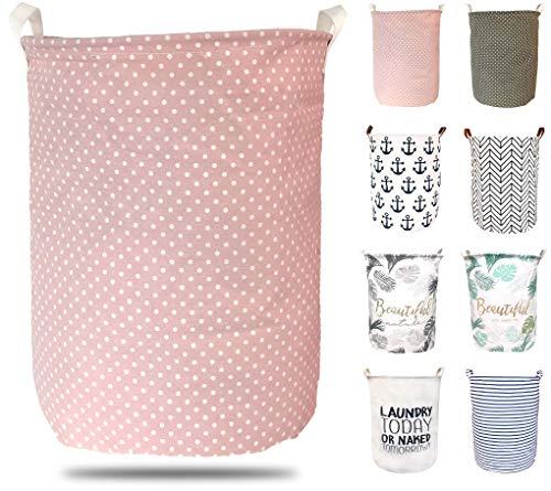 ephem - Wäschekorb faltbar, flexibel & passend. Wäschesack, Wäschesammler, Laundry Basket, Aufbewahrungsbox mit hochwertiger PE-Beschichtung. (ROSA, 45x35cm)