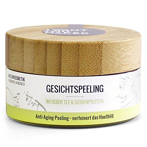 I want you naked - Anti-Aging Gesichtspeeling mit Weissem Tee und Seidenprotein, 100 ml (Tee Grüner Limette)