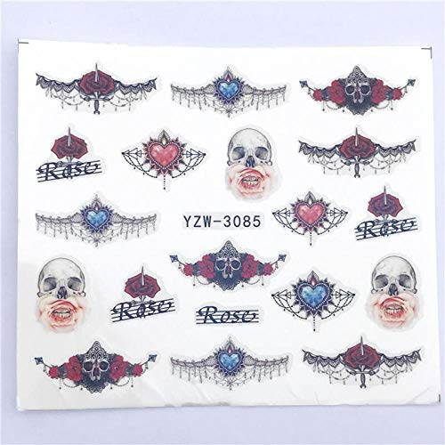 NCKLY Nagel-Aufkleber Edle Halskette Nail Art Wasser Applique Transfer Sticker Nail Art Nail Decoration -