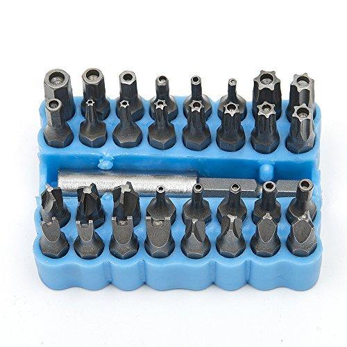 Magnetischer Schraubendreher mit Bits von Hakkin, blau -