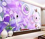 Malilove 3d Raum Fototapete benutzerdefinierte Wandbild lila Blumen Schmetterling deko Malerei 3d Wandbilder Tapeten für Wände 3d