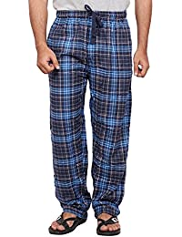 Twist Men's Grey And Red Checked 100% Cotton Pyjama Sleepwear Night Wear With Contrast & Free Shipping