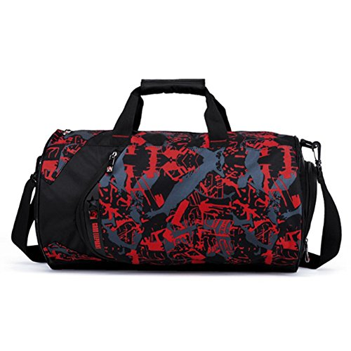 YAAGLE Sporttasche herren groß Reisetasche Reisegepäck multi Umhängetasche Schultertasche für Fitness tasche für Wanderung, Trekking, Ausflug und Dienstreise rot