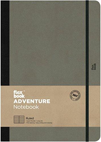 Flex Book Adventure–taccuino formato 17x 24cm Borsa, 192pagine a righe, Elefante, Grigio