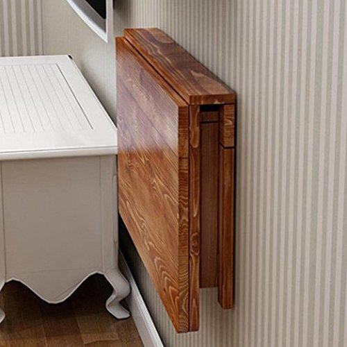 Wandtisch Wandklapptisch HWF Wand-Drop-Blatt Tisch Klapp Massivholz Esstisch Space Saver Fold Cabrio Schreibtisch Carbonize (größe : - Klapp-esstisch