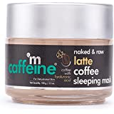 mCaffeine Latte Coffee Sleeping Face Mask, Night Cream | Hydration, Skin Repair | Hyaluronic Acid, Niacinamide | For Dehydrat