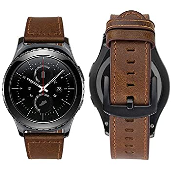 iBazal Gear S2 Classic Bracelet, Galaxy Watch 42mm Bracelet Vintage Bracelet Cuir 20mm pour Gear S2 Classic Smart Watch SM-R732 / SM-R735, Galaxy Watch 42mm ...