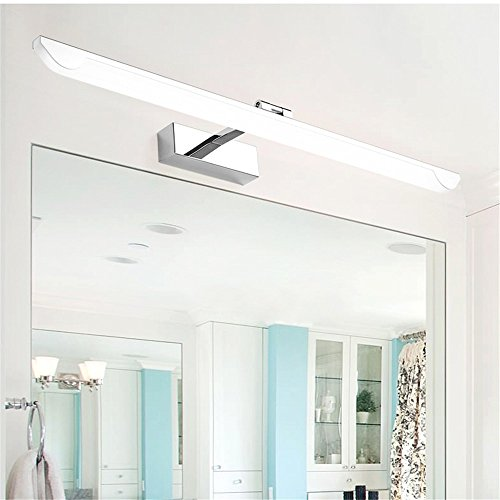 Kostenlose Vitrine (YU-K Moderne Wandleuchte Spiegel vordere Scheinwerfer Nebel kostenlose Pflegeprodukte Vitrine LED-Licht, 14W, weiß, 63 cm)