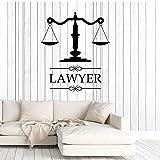 Anwaltskanzlei Zeichen Anwalt Anwaltskanzlei Vinyl Applique Sticker Company Gerichtsfenster Dekoration 42x48cm