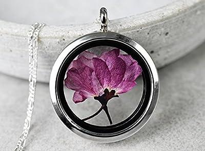 Collier en argent 925 SAKURA (cerisiers en fleurs du Japon)