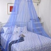 tinxi® Moustiquaire ciel de lit Bleu Bleu