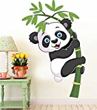 #8: Panda Removable Decor Environmentally Mural Wall Stickers