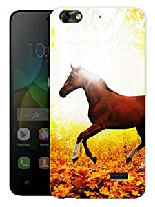 """Humor Gang Masculine Horse Printed Designer Mobile Back Cover For """"Huawei Honor 4C"""" (3D, Matte Finish, Premium Quality, Protective Snap On Slim Hard Phone Case, Multi Color)"""