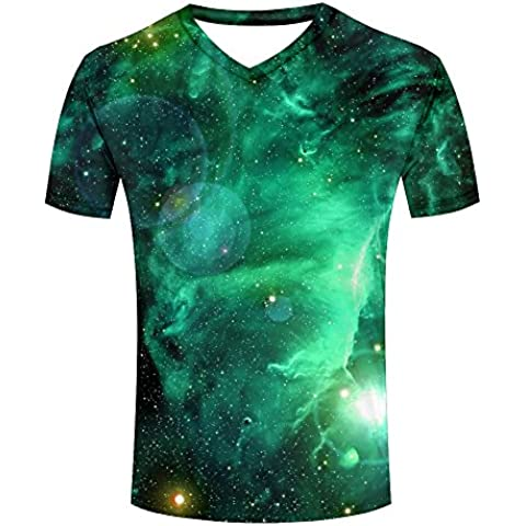 Beaytiful Galaxy Space with Stars and Nebula Printed Mens T-shirt