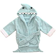 Lexikind Toalla para bebé con capucha, tejido blanco, diseño de animales