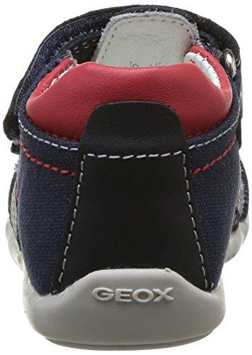 Geox B Kaytan B G, Sandales bébé garçon Bleu (Navy/Red)
