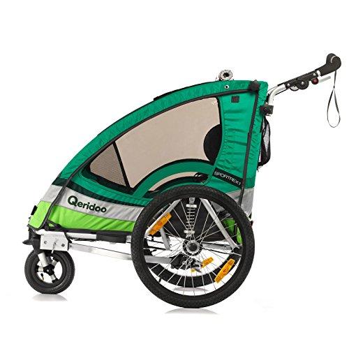 Qeridoo Sportrex 1 Fahrradanhänger 2017 – 1 Kind, Farbvariante:grün - 3