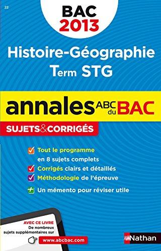 ANNALES BAC 2013 HISTOIRE/GEO