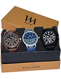 Watch Me Gift Combo Set For Him/Watches For Men/Watches For Boys (watches 3 Combo/watches 2 Combo) AWC-001-AWC...