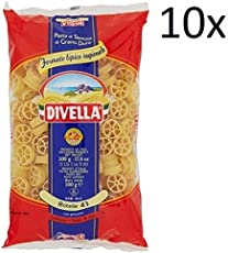 10x Pasta Divella 100% Italienisch N°43 Rotelle 500g